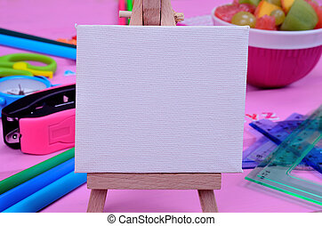white board on table