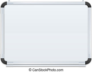 white board vector illustration isolated on black background...