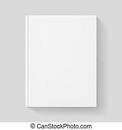 White book. Illustration on gray background for design