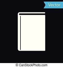 White Book icon isolated on black background. Vector Illustration