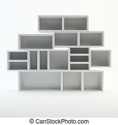 White book Shelf on white background