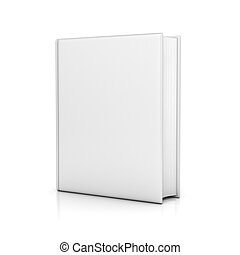 white book with blank covers 3d illustration