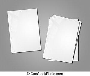 white booklets mockup