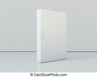 White books in blank package. 3d rendering