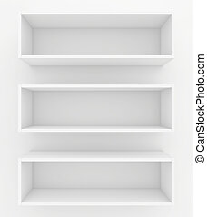 bookshelf. 3d render on white background