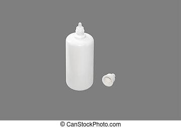 White bottle.