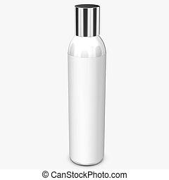 White bottle on background.3D Rendering