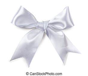 White bow isolated
