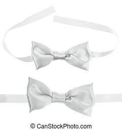 White bow tie isolated