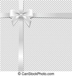 White Bow With Transparent Background