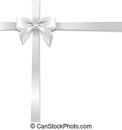 White Bow With White Background