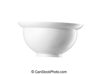 White bowl isolated