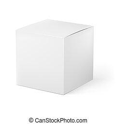 White box. Illustration on white background for creative...