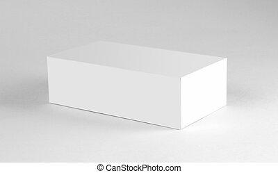 White box. Close up. Isolated on white background. - White ...