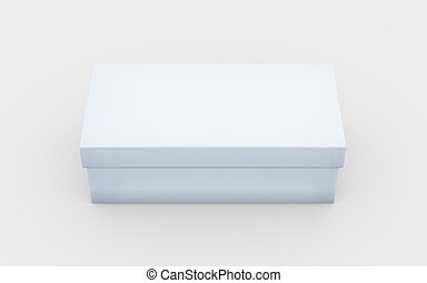 white box high angle - white cardboard material of rectangle...