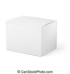 White box. Illustration on white background for design
