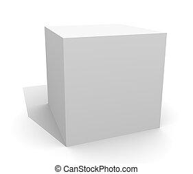 White box, isolated