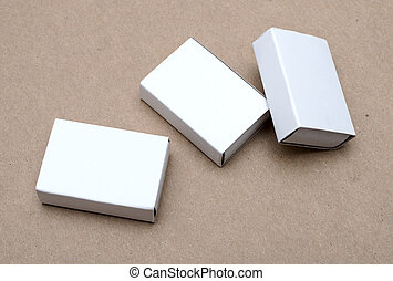 white box on brown background