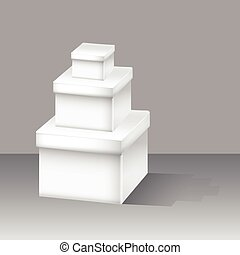 White box set. Vector for Web design on a background.