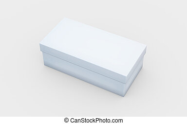 white box view - white cardboard material of rectangle box...