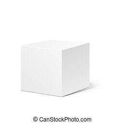 White box - White 3D box isolated on a white background....