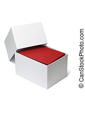 White box with red giftbox inside