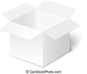 White Box With White Background
