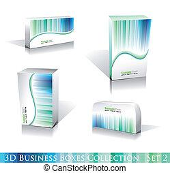 White Boxes Icon Set
