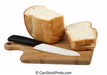 White bread and knife