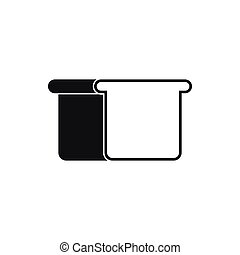 White bread icon, simple style