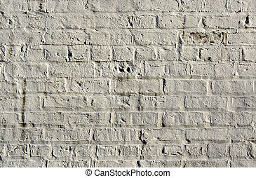 White Brick Background - White brick wall showing detail, ...