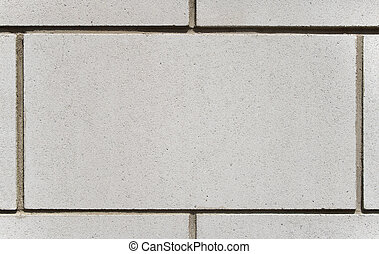 White brick block with space for text
