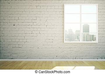 White brick interior