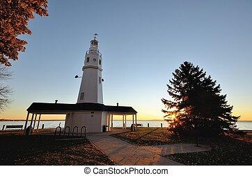 White Brick Lighthouse at Sunrise