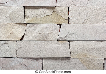 White brick stone exterior and interior decoration building material for wall finishing
