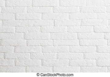 white brick wall background or texture