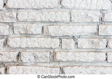 White brick wall background.