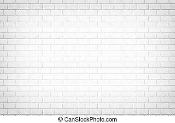 White brick wall background, stone texture