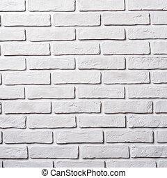 White brick wall. Block background