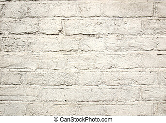 White brick wall - Brick wall background with English bond,...