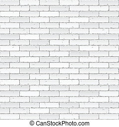 White brick wall vector illustration.