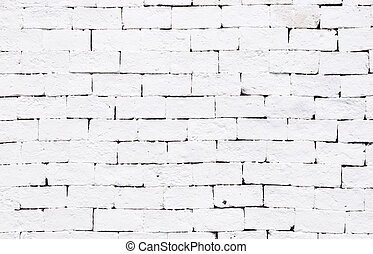 White brick wall for texture