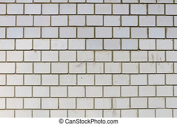 White brick wall on a modern house