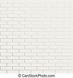 White brick wall, vector