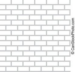 White Bricks Background - Seamless Vector Flat Design Wall Tiles Pattern