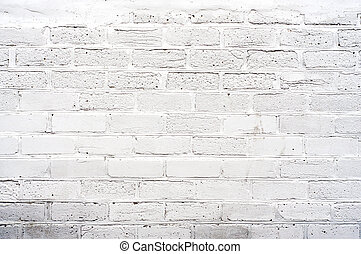 White Brickwall - Distress white brick wall background for...