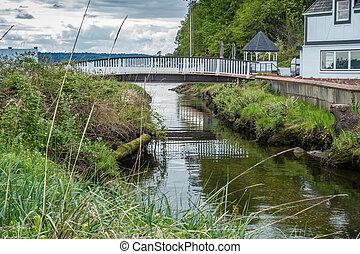 White Bridge And Stream 2