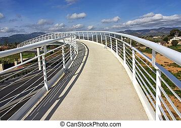 White bridge to the Sky