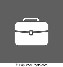 White briefcase icon on a dark background