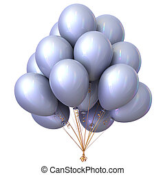 White bright balloons bunch party decoration